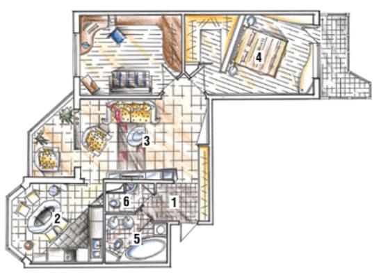 влагу дизайнерская планировка 3х комнатной квартиры п44 рынке спортивной